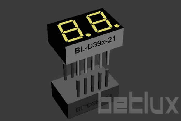 0.39 inch double seven segment led display