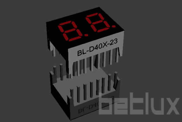 product image - seven segment LED display | 0.4 inch 2 digit-seven segment LED 0.4 inch 2 digit