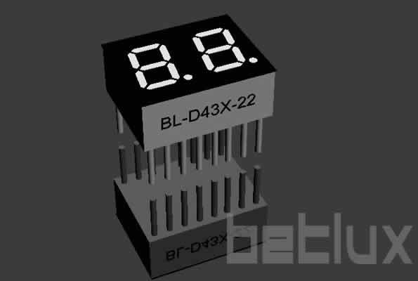 LED seven segment display | double digit | 0.43