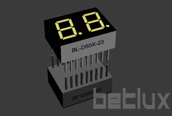 0.50 inch double seven segment led display