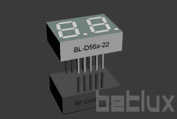 product image - seven segment display datasheet | 0.56 inch LED | double digit LED-0.56 inch double seven segment led display