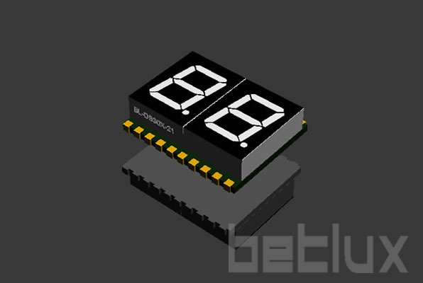 SMD seven segment display 0.3 inch 2 digit