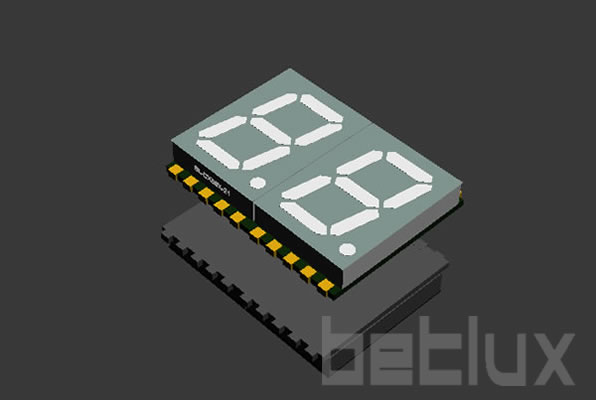 SMD seven segment display 0.56 inch 2 digit