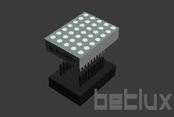 LED de matriz de puntos 5x7 2.54mm
