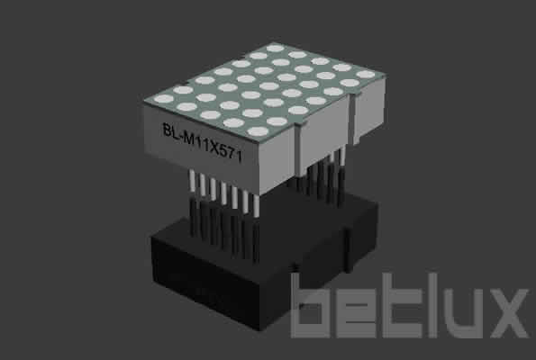 dot matrix LED display 3mm 5x7 bi-colo