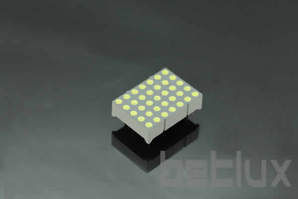 1.2 inch height 5x7 LED dot matrix