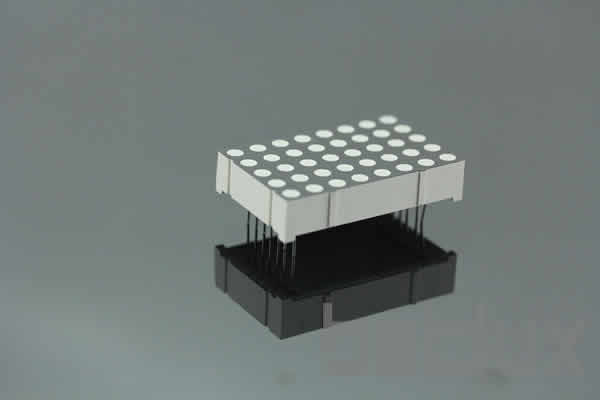 "product image - Dot Matrix LED - Dia 3mm 5x8 1.2"" -LED supplier-1.4 inch height 5x8 LED dot matrix"