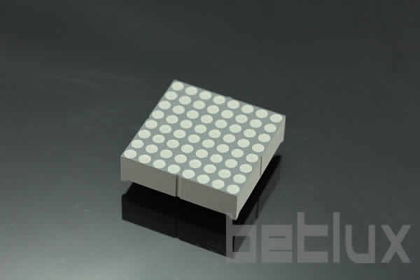 product image - Dot matrix LED 8x8 green red bicolor-1.5 inch height 8x8 LED dot matrix, bi-color