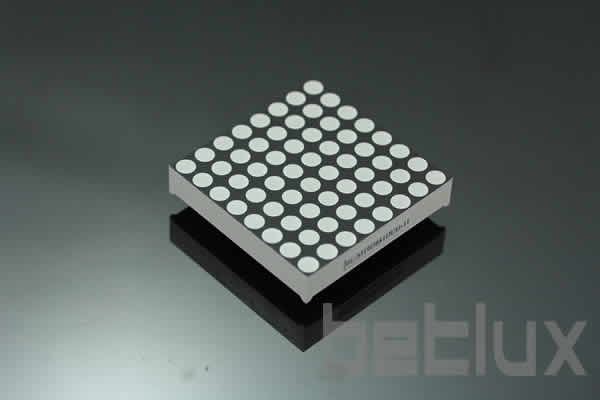 1.9 inch height 8x8 LED dot matrix, bi-color