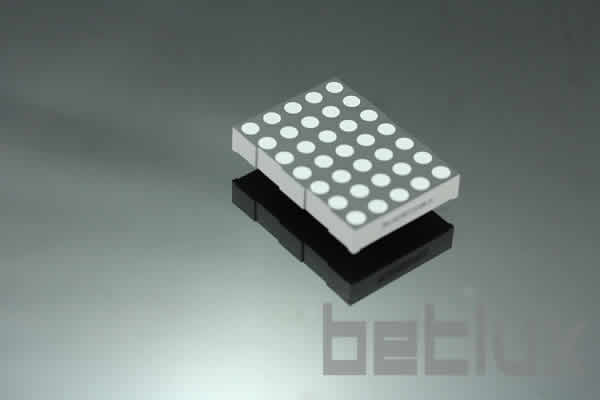 2.0 inch height 5x7 LED dot matrix, bi-color