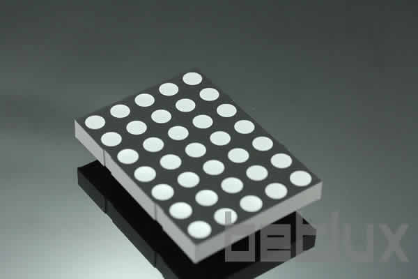3.4 inch height 5x8 LED dot matrix, bi-color
