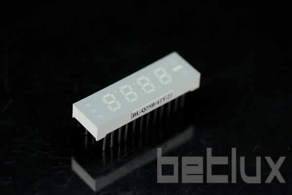 0.25 inch four seven segment led display
