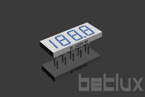 "product image - 7 segment LED | display 0.25""-seven segment LED display 0.25inch four digit"