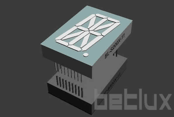 2.00 inch single seven segment led display