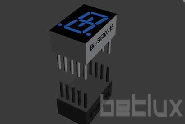 0.52 inch single seven segment led display