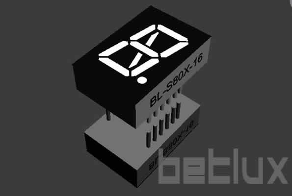 0.8 inch LED seven segment display