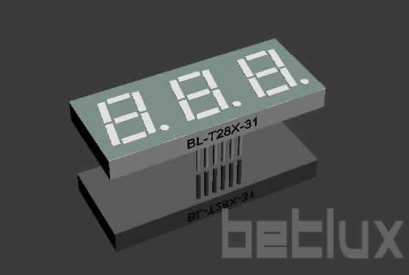 "product image - 3 digit seven segment LED display 0.28""-0.28 inch three seven segment led display"