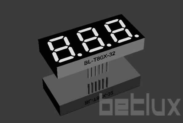 LED display element 0.8 inch digit