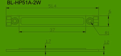 2W high power LED Package diagram