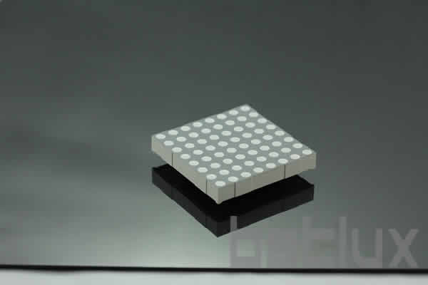 2.3 inch height 8x8 LED dot matrix